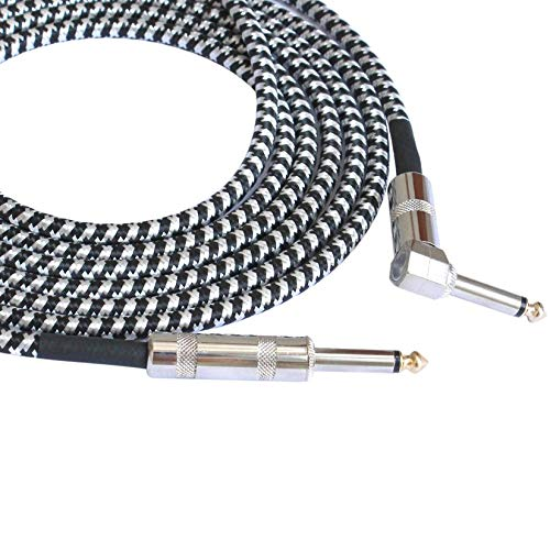 Jack Mono Guitarra Cable de Audio Macho a Macho Cable de Alambre de 6,35 mm Plug Straight