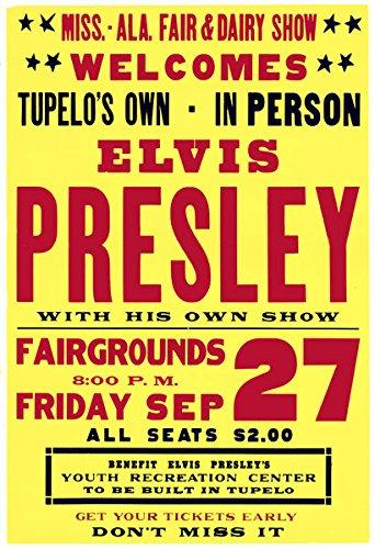 rr02-vintage-elvis-presley-the-king-rock-roll-concert-gig-band-advertisement-poster-print-a4-297-x-2