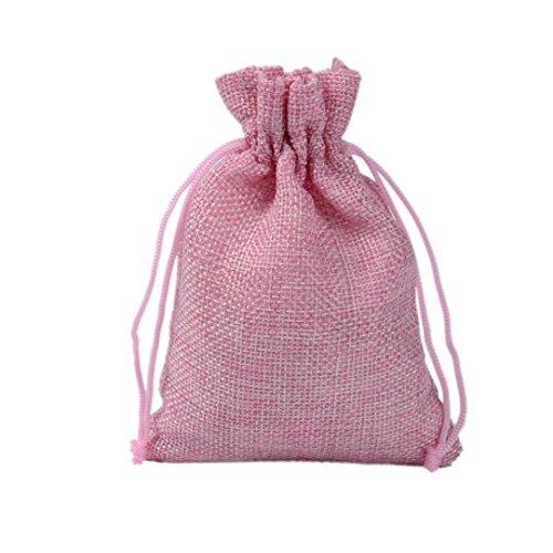 Yfzyt sacchetti di tela coulisse borse da regalo sacchetto dei monili per bigiotteria ciondoli bracciali giada cosmetici giornalieri sciarpe borse a base di erbe giocattoli - 10pz, 7x9cm, rosa