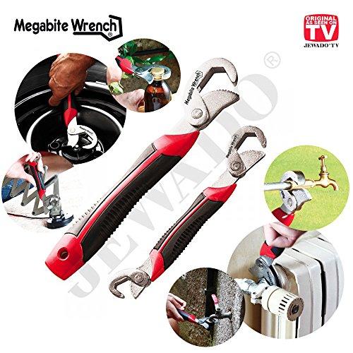 Preisvergleich Produktbild Megabite Wrench® Universalschlüssel für Muttern und Schrauben Größe 8 -32 mm, 2er Set - Original aus TV-WERBUNG
