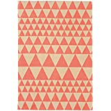Alfombra salon sala de estar Carpet piso pelo corto Design ONIX TRIANGLES RUG 100% Algodón 120x170 cm Rectangular Rojo   Alfombras barata online comprar