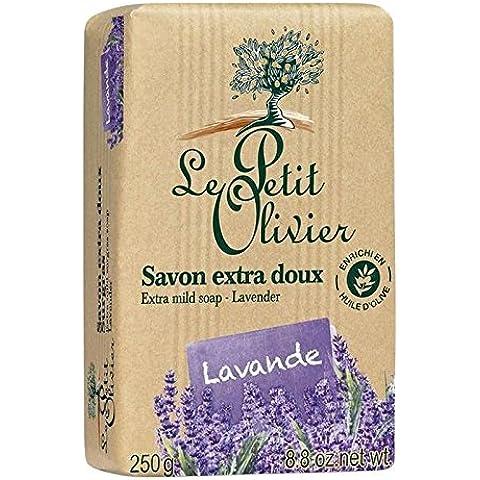 Le Petit Olivier Più Mite Sapone Alla Lavanda 250G (Confezione da 6)