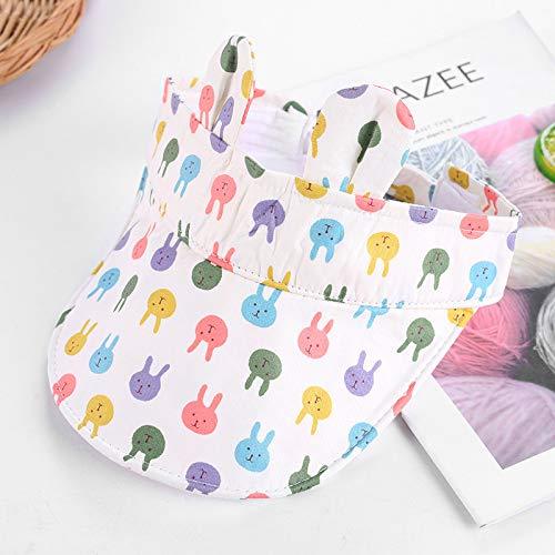 mlpnko Kinder Sonnenschirm Hüte Männer und Frauen Sonnenhut Sonnencreme Cartoon Kappen aus der Luftkappe weiße Farbe Kaninchen (Iron Mann Kostüm Leuchten)