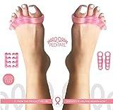 Gel-Zehentrenner und tragen Kit-Pink von peditate Sofortige Schmerzlinderung Best für entzündeten Fußballen Corrector, Hammer unterstützt National Breast Cancer Foundation Yoga Zehen Nagel Pediküre Fuß Spacer Straightener