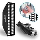 Phot-R 30x140cm 11.8x55.1 Zoll Softbox Beleuchtung Wabengitter Bowens Montieren Falten Zwilling Diffusor Kontinuierliche Speedring Speedlite Monolight Porträt Produktfotografie