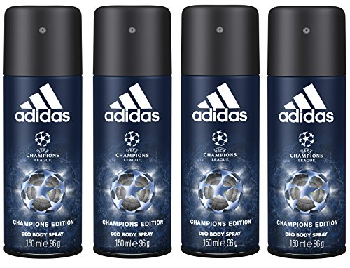 adidas UEFA League Herren, Deodorant Spray Champions Edition, 3er Pack (3 x 150 ml)