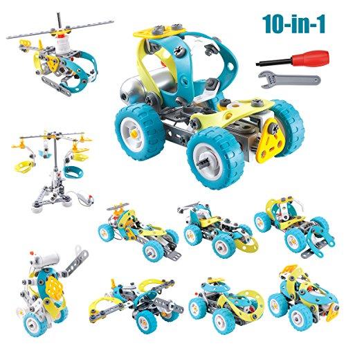 kit del Rompecabezas de Coches Milkee Imaginación Construcción de ladrillos Bloques Desensamblaje de Montaje Construcción Puzzles Recomendable para Niños de Más de 5 Años