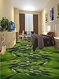 Wongxl 3D Stock Film Gras Creek Feuchtgebiet Pflanzen Selbstklebende Wasserdicht Wohnzimmer Schlafzimmer Badezimmer Bodenbeschichtungen Und Malerei 300cmX250cm