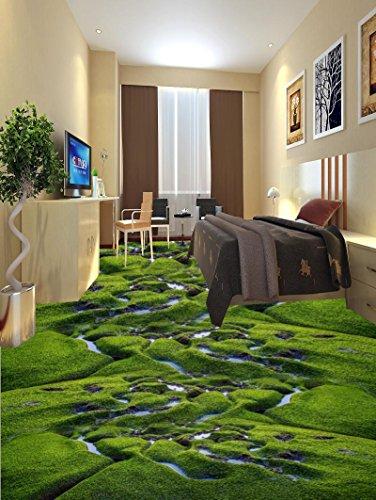 Preisvergleich Produktbild Wongxl 3D Stock Film Gras Creek Feuchtgebiet Pflanzen Selbstklebende Wasserdicht Wohnzimmer Schlafzimmer Badezimmer Bodenbeschichtungen Und Malerei 350cmX300cm