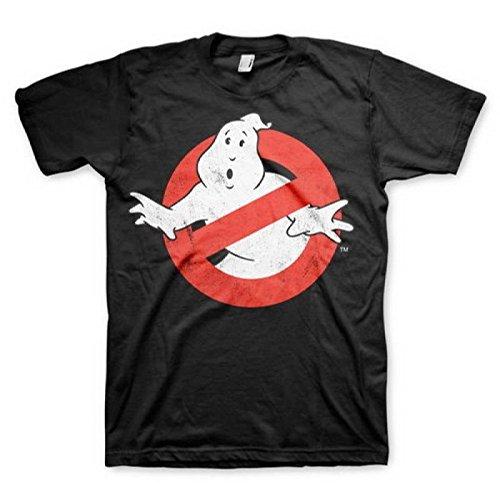 T-shirt Ghostbusters Distressed Logo vintage maglia Uomo (L)
