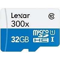 LEXAR - 300x Micro SDHC™ UHS-1 Carte Micro SD Haute-Performance 32GB Class 10 – Blanc/Bleu