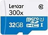 Lexar 32GB microSDHC UHS-I 300x Speed (45MB/s) High Speed Flash Speicherkarte mit SD Adapter - LSDMI32GBB1EU300A