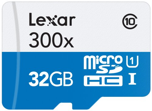 Lexar 32GB microSDHC UHS-I 300x Speed (45MB/s) High Speed Flash Speicherkarte mit SD Adapter - LSDMI32GBB1EU300A - High-speed Microsdhc-karte