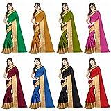 Hinayat Fashion Multicolor Cotton Saree Combo For Women