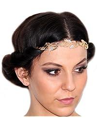 Retro Vintage Accesorios del pelo con hojas / Estilo Festival/ Chapado en oro de DesiDo®