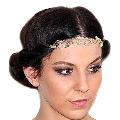 Vintage perle bandeau cheveux Bijoux pour la tête avec motif fleuri / fleurs / feuilles / Leaf / festival ruban cheveux en optique d