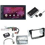 Sony XNV-KIT200 CarPlay Android Auto USB CD DVD Autoradio Touchscreen Moniveiver Einbauset für Hyundai i40 VF