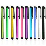 H+S Multi Couleur Universelle de Petite Taille en Métal Stylet Tactile Pen pour Téléphone Portable Cell Smart Téléphone Portable Tablette iPad iPhone Multi Color - 10pcs