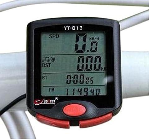 Fahrrad 24Funktionen LCD Kilometerzähler, Hintergrundbeleuchtung