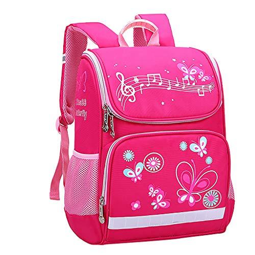 AIni Kinder Rucksack Mädchen Mode große Kapazität Wasserdicht und Lastreduzierend Karikatur Kinder Rucksack Rucksäck Kinderrucksäcke Pink-B