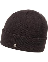 Lierys Fine Merino Strickmütze für Damen und Herren Beanie Feinstrickmütze Wintermütze mit Umschlag Herbst Winter