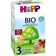 Hipp Organic 3 leche de continuación - del 10 al mes, 6-pack (