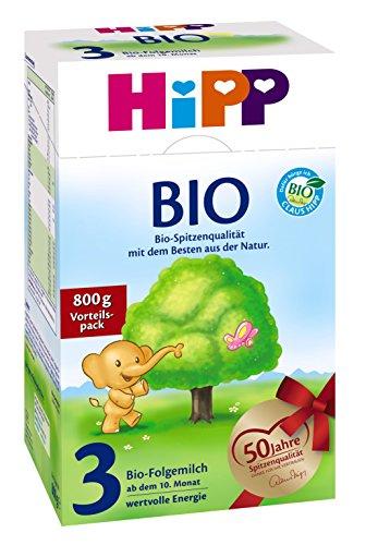 Hipp Organic 3 leche continuación - 10 mes, 7 pack
