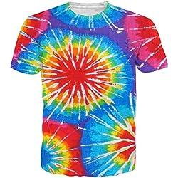 Leapparel El gráfico colorido unisex del Tejido-Teñido diseñó la ropa S de las camisetas