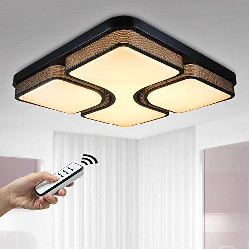 Natsen® 36W LED Deckenleuchte Deckenlampe Modern Wandlampe schwarz voll dimmbar Fernbedienung 530*530*120mm 8908H