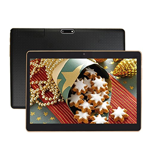 Fonxa 9.6 Pollici Tablet PC with Case, 32GB di archiviazione - Dual Sim Phone Tablet 3G con il GPS, Bluetooth, Android 5.1 Lollipop, schermo IPS, Nero
