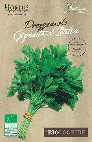 Hortus Le 90BIO4979 Le Biologiche Prezzemolo Gigante d'Italia, Busta Bio, 13x0.3x20 cm