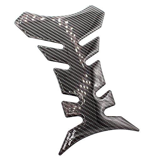 Gel Motorrad Tankpad 3D Carbon Glanz universell von Finest-Folia (Carbon Schwarz Glanz)