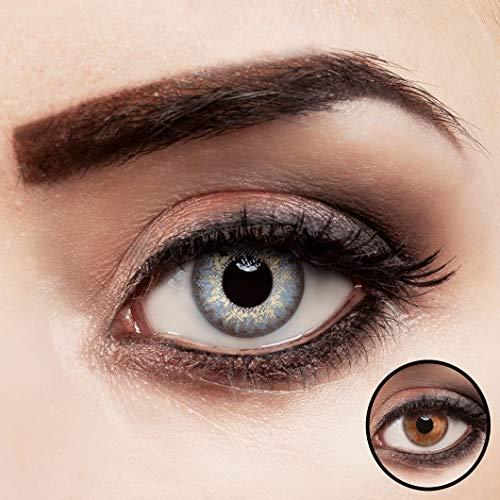 aricona Kontaktlinsen farbig eisblau ohne Stärke natürliche Jahreslinsen 2 Stück