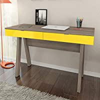 Tecnomobili Office Cabinet with Drawers, Oak/Yellow, Tobacco
