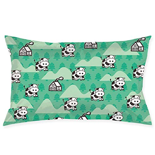 Bikofhd Cow Kissenbezugs Decorative Pillow Covers Soft and Cozy, Standard Size 20