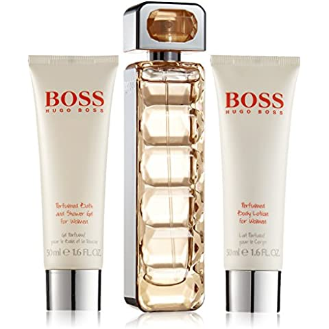 Hugo Boss Orange, Mujer, Gift Set Contenido: Eau de Toilette 50 ml Gel de Baño y Ducha 50ml Perfumado Loción Corporal 50ml, 1er Pack (1 x 150