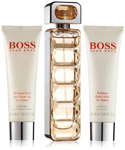 Hugo Boss Orange, Woman, Geschenkset Inhalt: Eau de Toilette 50 ml + Bath&Shower Gel 50 ml + Perfumed Body Lotion 50 ml, 1er Pack (1 x 150 ml)