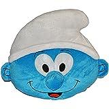 Kissen Schlumpf 46 cm * 40 cm Kuschelkissen - die Schlümpfe - blau groß sehr weich Jungen Jungs Schmusekissen Kinderkissen