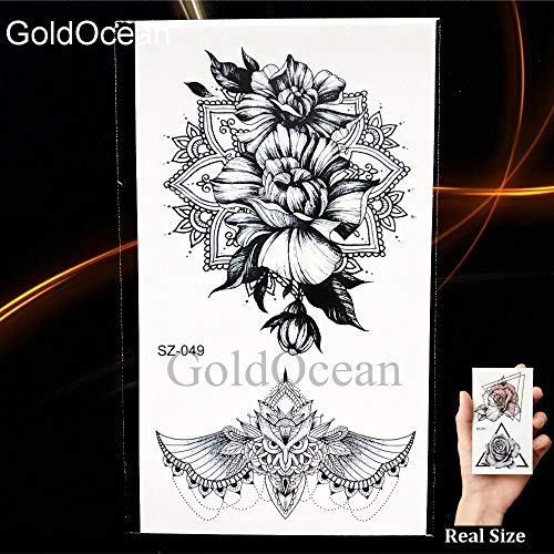 BRT Schwarze Pfoten Temporäre Tattoo Frauen Körper Arm Henna Lotus Anhänger Tattoo Mädchen Mode Knöchel Einhorn Gefälschte Tatoos Diy (2 Packungen) HSZ049 (Temporäre Tattoo-pfote)