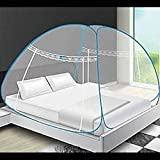Royale HI Design Foldable Mosquito Net Flexible for Double Bed,King Size Bed, Queen Size Bed with 2 Window Zip Door (Size : Double Bed)