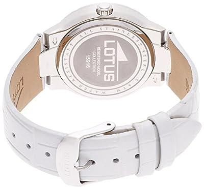 Lotus 0 - Reloj de cuarzo para mujer, con correa de cuero, color gris de Lotus