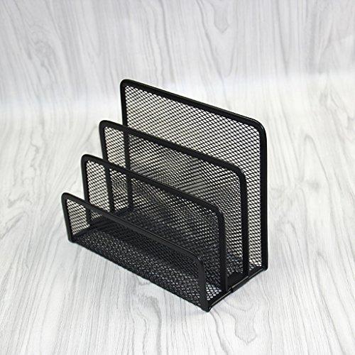 Alambre de púas Tres capas Libro Stand 175 * 90 * 135mm Estantería de lectura Marco Negro