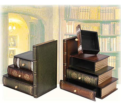 OYBB Ornamente Skulpturen Multifunktionale Dekorative Antike Retro Buch Box Schmuck Box gefälschte Buch Requisiten Buch Simulation Buch Requisiten Modell Buchstütze Buch Stehen