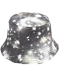 356d07241e5 GEMSeven Unisex Cap 3D Printed Starry Night Bucket Hats Summer Outdoor  Hipster Travel Visor Caps