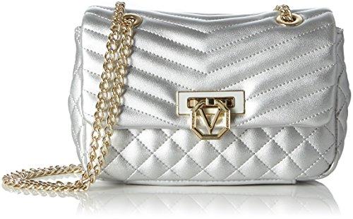 valentino-margaritas-sacs-baguette-femme-argent-argento-19x13x5-cm-b-x-h-x-t