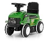 ROLLY - Rutscher Traktor in 4 Farben, Rutschauto, Kinderauto, Rutschfahrzeug, Rutschwagen, Lauflernwagen, Lernlaufauto (Lauflernauto) mit interaktivem Lenkrad und aufklappbarem Sitz, Farbe:grün