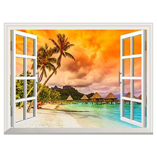 uq-poster-mural-en-vinyle-papier-peint-auto-adhesif-61x81cm-trompe-loeil-fenetre-removable-maldives-