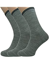 Loonysocks, 3 Pair of Our Best Business Socks Made of Super Soft Ascona Merino Wool, Mens Light Grey Socks