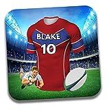 Cadeau personnalisé-Maillot de rugby sur le thème Dessous-de-verre à bière/mat-Cadeau d'anniversaire-Cadeau-Agen Couleurs