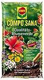 COMPO SANA Qualitäts-Blumenerde mit 8 Wochen Dünger für alle Zimmer-, Balkon- und Gartenpflanzen, Kultursubstrat, 5 Liter -